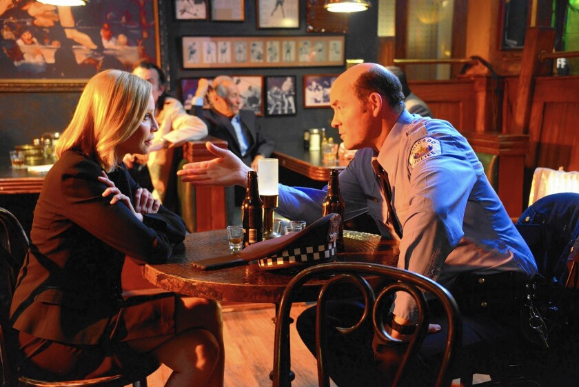 """Calista Flockhart and David Koechner are part of the cast in the second season of """"Full Circle,"""" a dramatic round robin of sorts that takes place largely in a bar and centers on police officers in Chicago."""