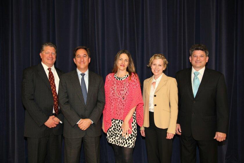 The complete DMUSD board now includes President Doug Rafner, Alan Kholos, Kristin Gibson, Erica Halpern and Scott Wooden.