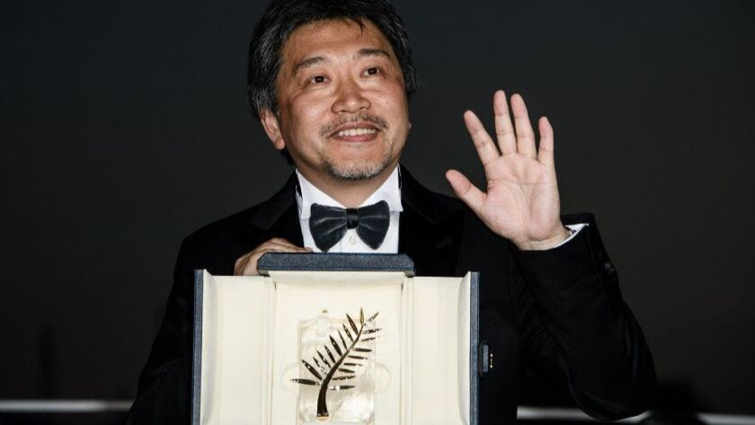 "Hirokazu Kore-eda won the Palme d'Or Prize for ""Shoplifters"" at the Cannes Film Festival on Saturday."