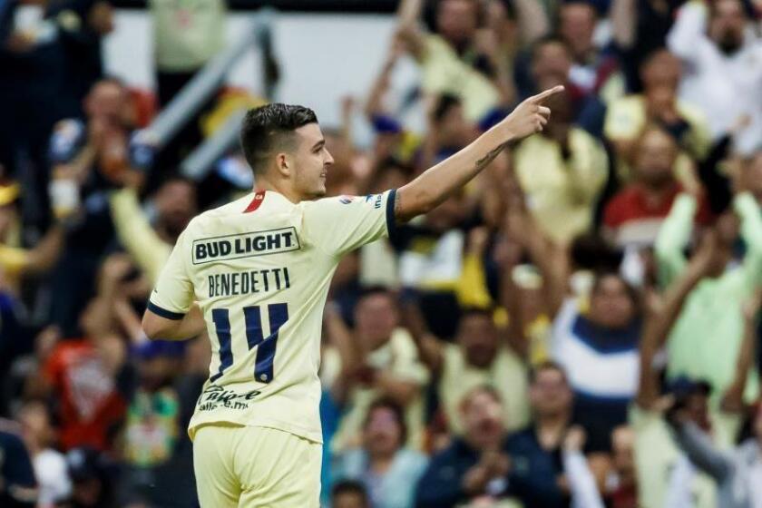 El colombiano Benedetti da el triunfo al América que salta al liderato del Apertura