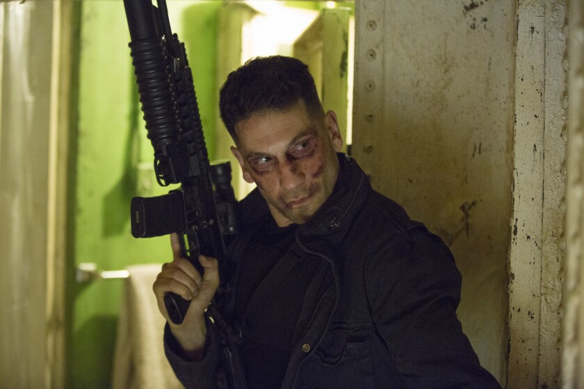 "Jon Bernthal as Frank Castle a.k.a. The Punisher on ""Daredevil."""
