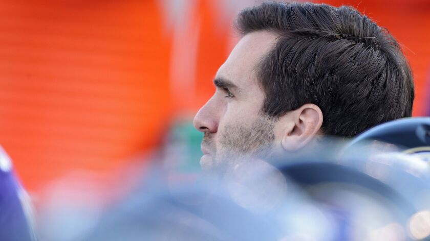 Ravens quarterback Joe Flacco looks on from the sidelines against the Raiders at M&T Bank Stadium on Sunday.