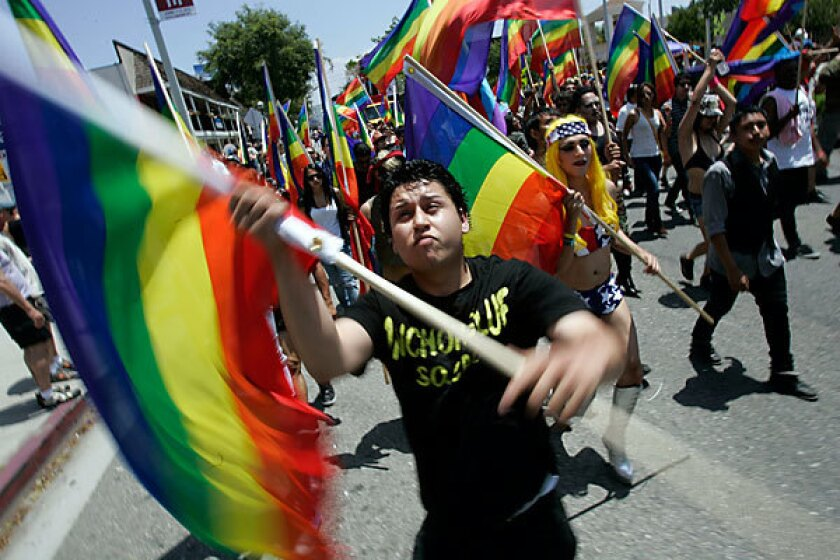 While the L.A. Pride Festival and Parade, pictured above, has been held in West Hollywood for decades, Glendale will hold its first gay pride event in May.