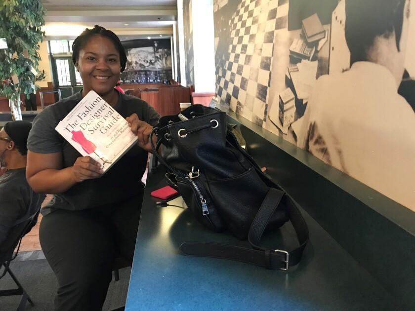Library patron Tanisha Hicks