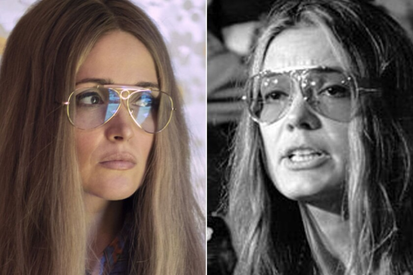 "Rose Byrne, left, as Gloria Steinem in ""Mrs. America,"" and the real Gloria Steinem in 1970."