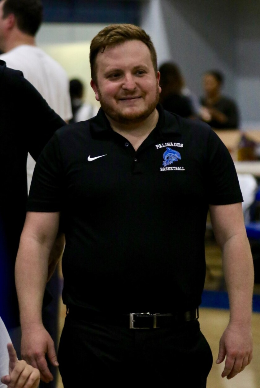 Adam Levine of Palisades is the girls' basketball coach of the year.