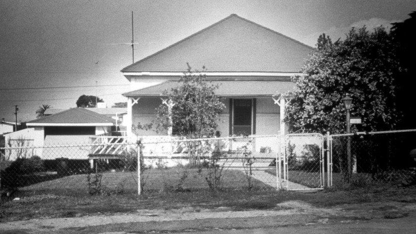 The Alvarado House at its original location at 144 10th St. in Del Mar.