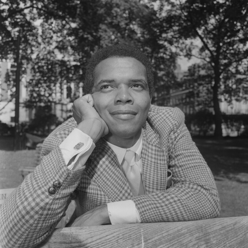 American singer-songwriter Johnny Nash during his first visit to London for various public appearances, 3rd September 1968.