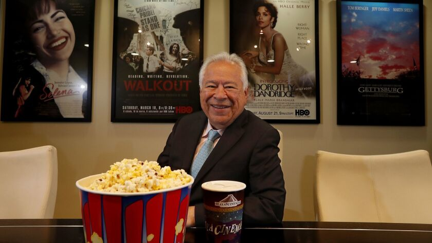 Moctesuma Esparza, founder of Maya Cinemas, unveils his $20-million theater in Delano, Calif., this week. Esparza is betting he can succeed by catering to predominantly Latino working-class areas.