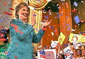 Hillary Clinton celebrates