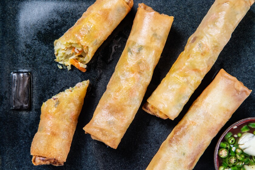Shanghai lumpia? Think spring rolls with a spicy twist