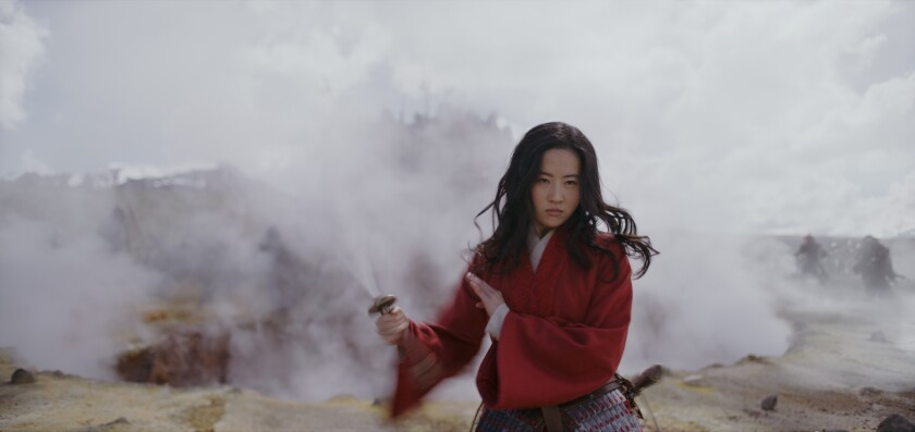 """Mulan (Yifei Liu) in a scene from the live-action """"Mulan."""""""