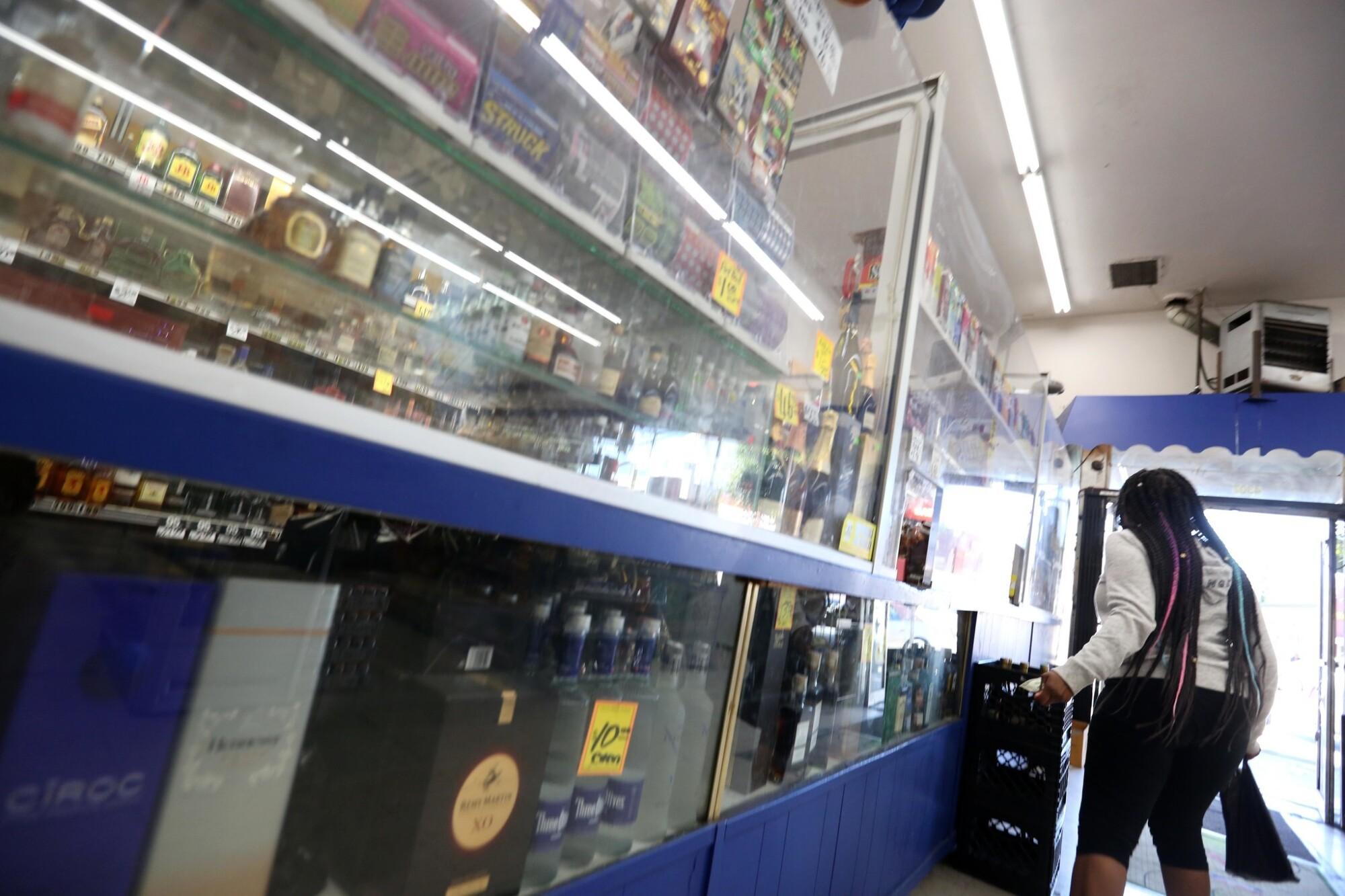 Hubert's Liquor in Leimert Park