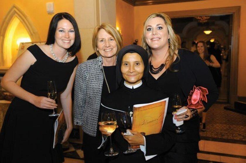 Maura Scioscia, Shirley Willadsen, Sister Gabriel Marie and Katie Willadson. Photos by Jon Clark
