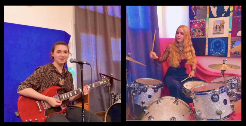The Microblades band members Giulietta Randell and Lauren Deerinck