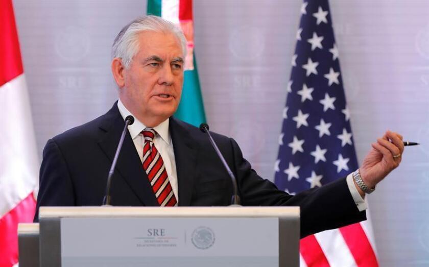 El secretario de Estado de EE.UU., Rex Tillerson, fue registrado este viernes, durante una rueda de prensa, en Ciudad de México. En desarrollo de su primer viaje a Latinoamérica, Tillerson llegó al sur de Argentina. EFE
