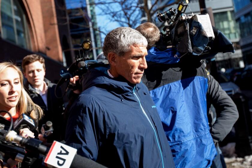 "William ""Rick"" Singer leaves Boston federal court last year."