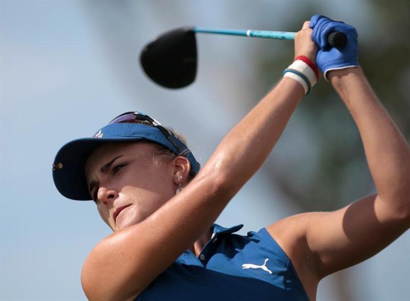 En la imagen, la golfista estadounidense Lexi Thompson. EFE/Archivo