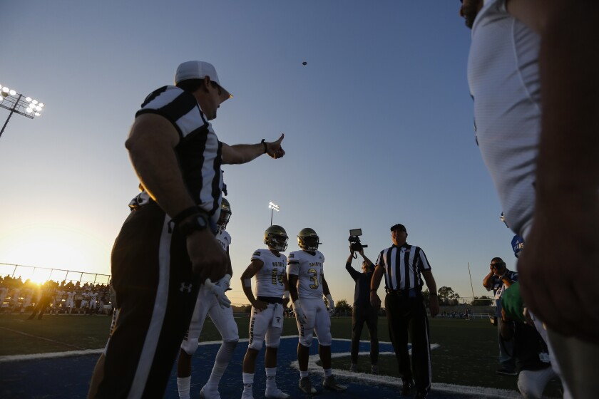 The San Diego County Football Officials Association is recruiting new members. Contact the association at sdcfoa.org