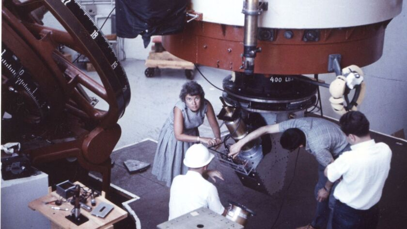 Astronomer Vera Rubin at the Lowell Observatory in 1965.