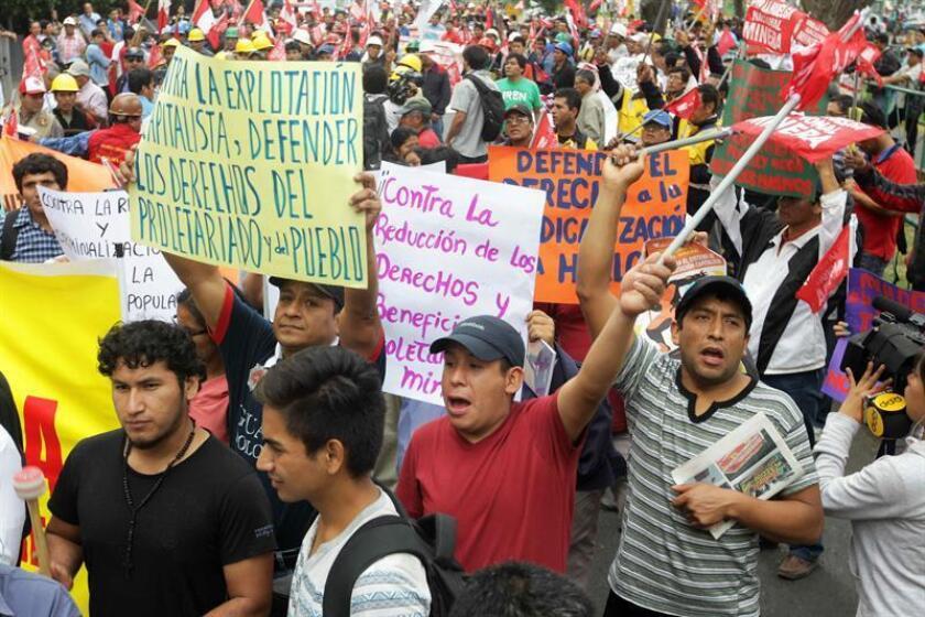 El proyecto minero de cobre Tía María fue suspendido desde 2015 por violentas protestas que causaron cuatro muertos, entre ellos un policía, y más de 300 heridos. EFE/Archivo