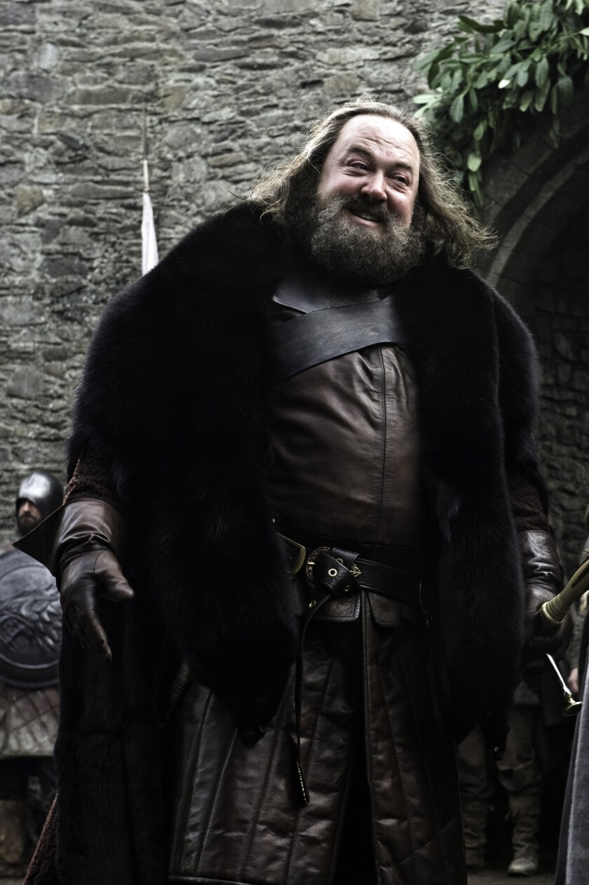 Scene from the HBO series Game of Thrones. Mark Addy. photo credit Helen Sloan/HBO