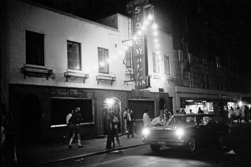 ********PHOTO FOR A TRAVEL STORY ON JUNE 9******** Stonewall Bar 1969 07?02?69. Disturbance on Sheri
