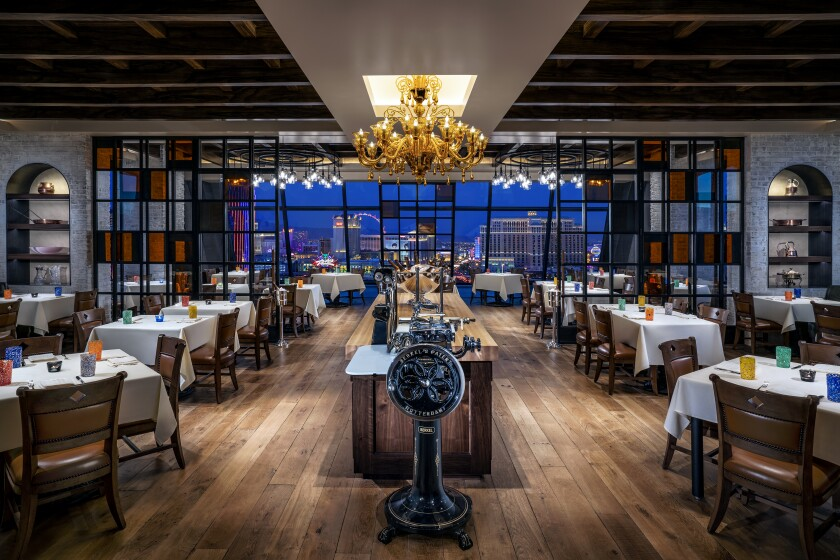 Vetri at The Palms has a commanding Vegas view.
