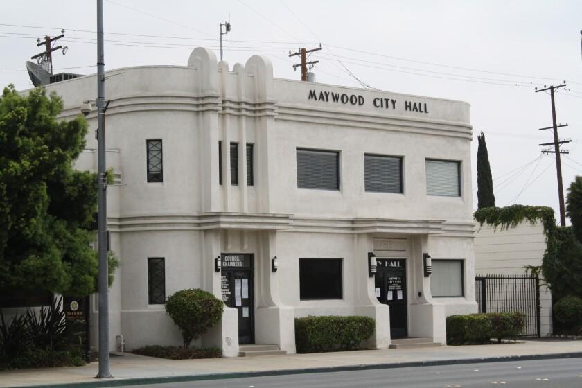 La ciudad de Maywood fue objetivo de un programa de auditoría del estado, destinado a evitar situaciones como las de Bell, donde un escándalo de corrupción en 2010 condujo a la condena de siete funcionarios (Los Angeles Times / Brian van der Brug).