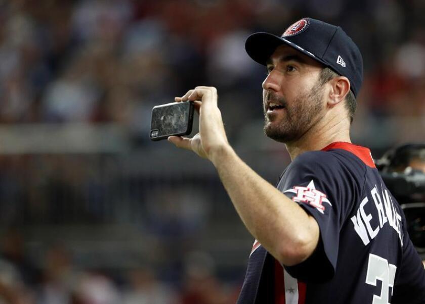 Justin Verlander, jugador de los Astros de Houston. EFE/Archivo