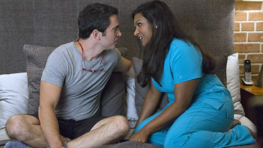 """Chris Messina and Mindy Kaling in """"The Mindy Project"""" on Fox."""
