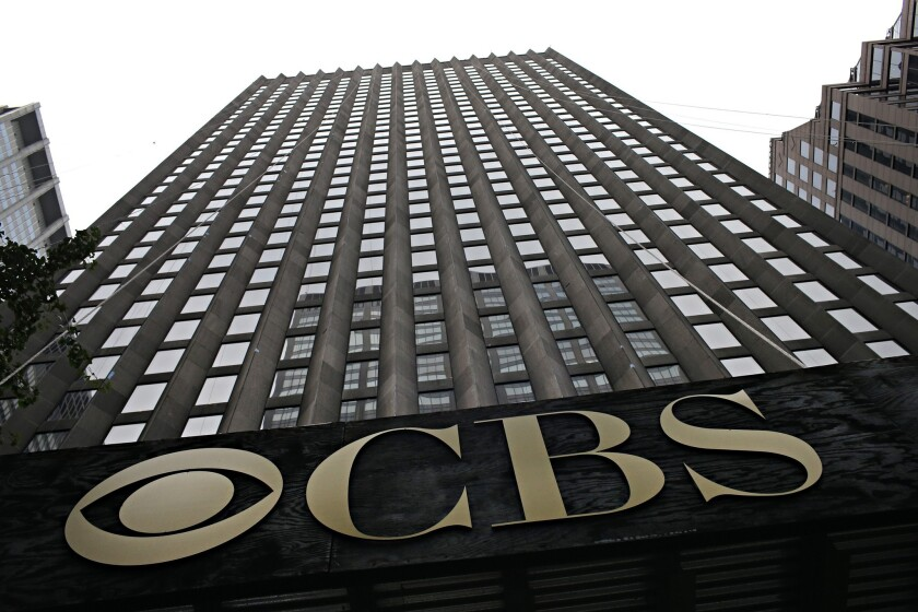 The CBS headquarters seen on August 2, 2013 in New York City. Time Warner Cable dropped CBS in three major markets- New York, Los Angeles and Dallas - today, after negotiations fell through.