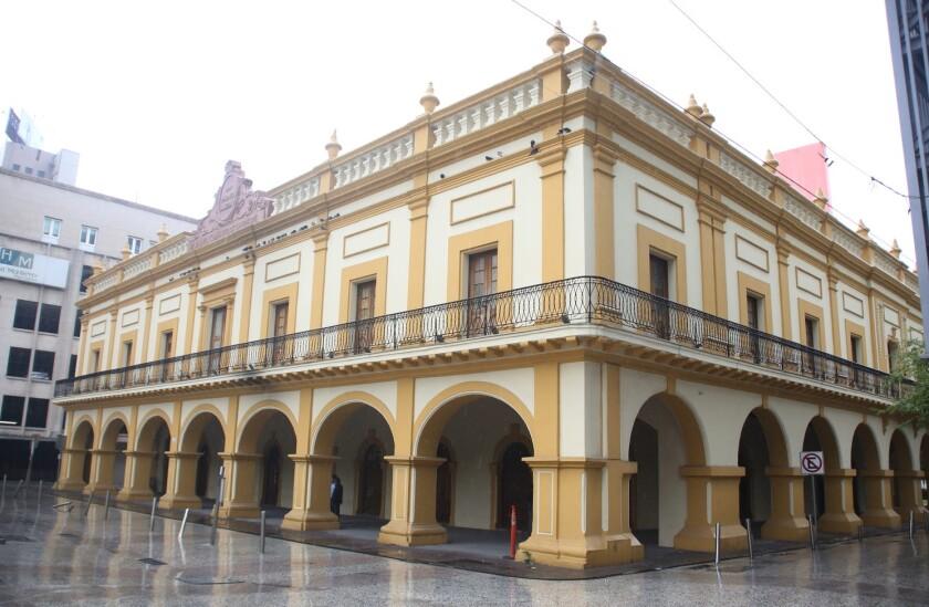 El antiguo Palacio Municipal, hoy Museo Metropolitano de Monterrey