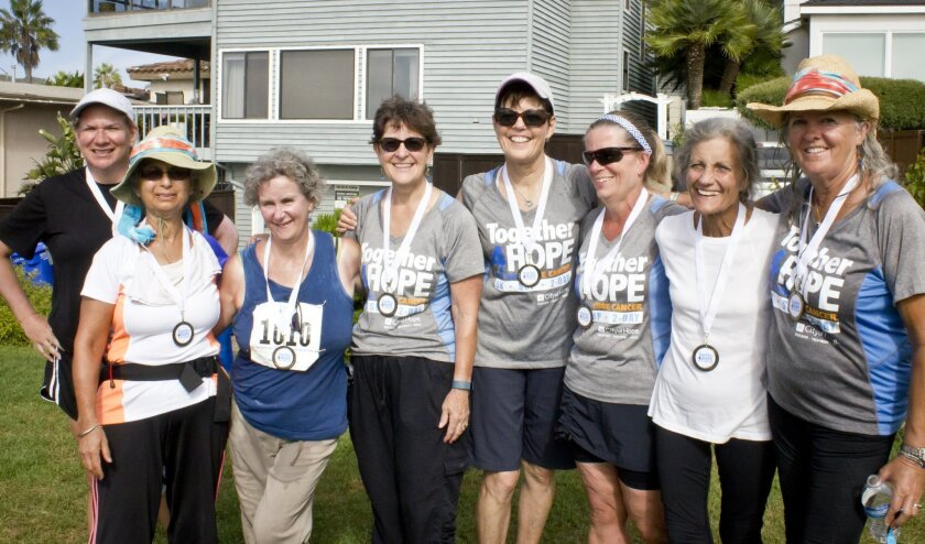 """Grandmothers 4 Hope"" (left to right): Jessie Stocking, Rosie Anand, Ellen Carpentier, Marybeth Brown, Maureen Kowba, Linda Hill, Debra Romano, Gail King."
