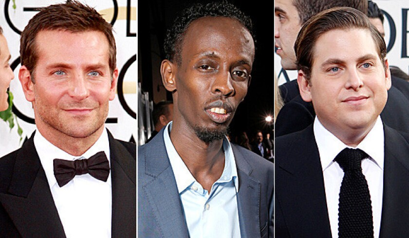 Bradley Cooper, Barkhad Abdi and Jonah Hill are among the supporting actor nominees.