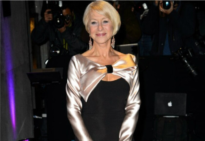 Helen Mirren attends the Evening Standard Theatre Awards at the Savoy Hotel in London.