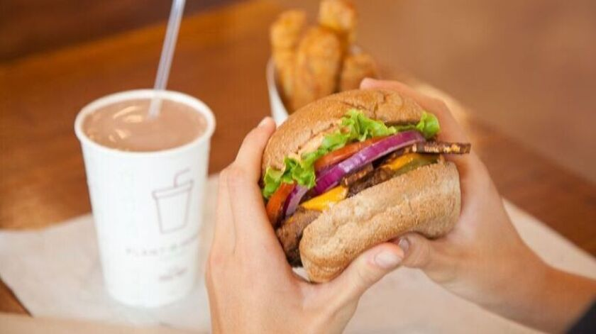 Plant Power Fast Food, which expects to open a location in Encinitas this year, serves all-vegan and vegetarian food like hamburgers, sandwiches and salads.