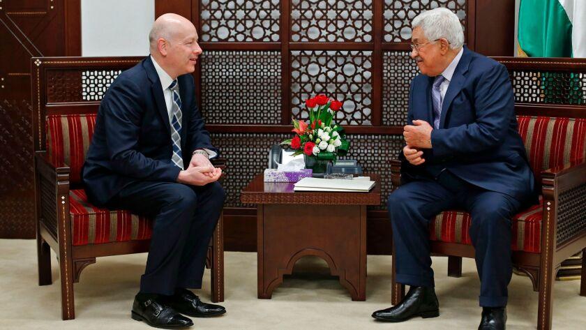 Mahmoud Abbas and Jason Greenblatt