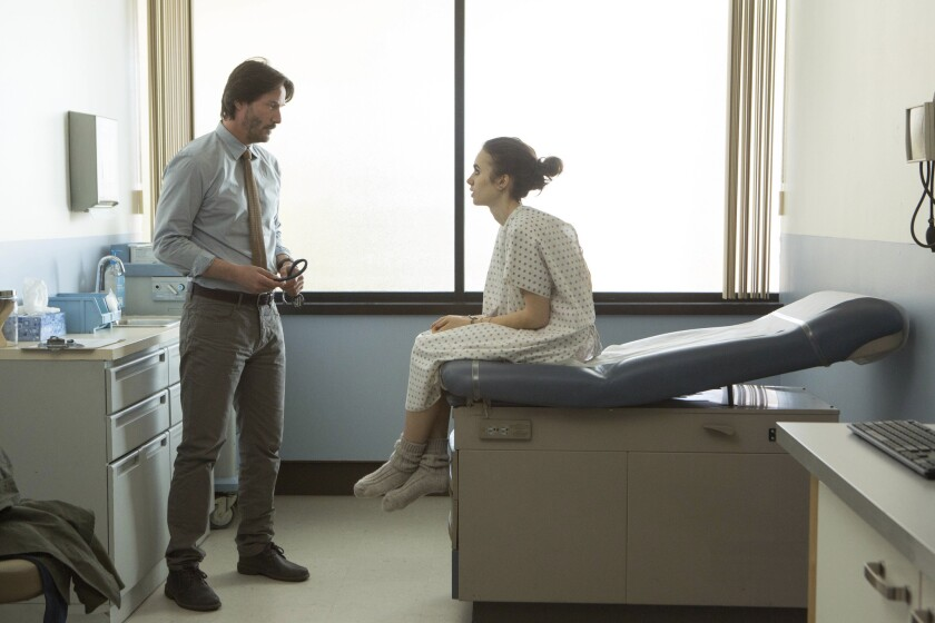 """Keanu Reeves and Lily Collins in a scene from """"To the Bone"""" a film by Marti Noxon. The film is an official selection of the U.S. Dramatic Competition at the 2017 Sundance Film Festival."""
