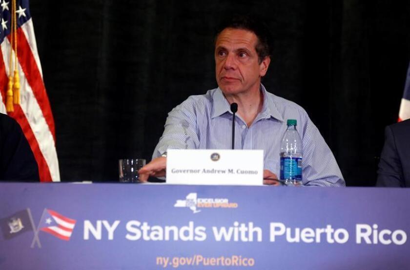 El Gobernador de Nueva York Andrew Cuomo durante una mesa redonda en San Juan (Puerto Rico). EFE/Archivo