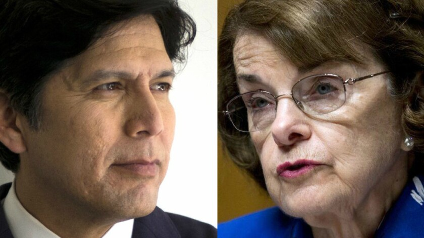 State Sen. Kevin de Leon, D-Los Angeles, and Sen. Dianne Feinstein, D-San Francisco, are set to face off in the November 2018 midterm elections.