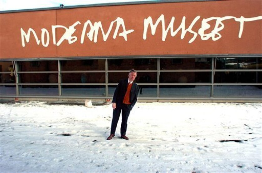 In this Feb. 11, 2004 file photo, Lars Nittve, chief of the Modern Art Mueum, is seen outside the museum in Stockholm. (AP Photo/Staffan Lowstedt)