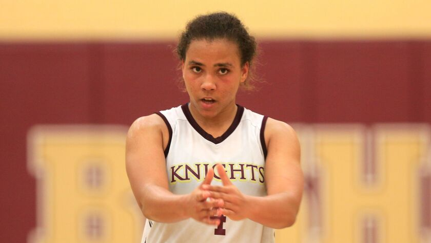 Bishop's senior Destiny Littleton needs  904 points to break Charde Houston's section and state career scoring record.