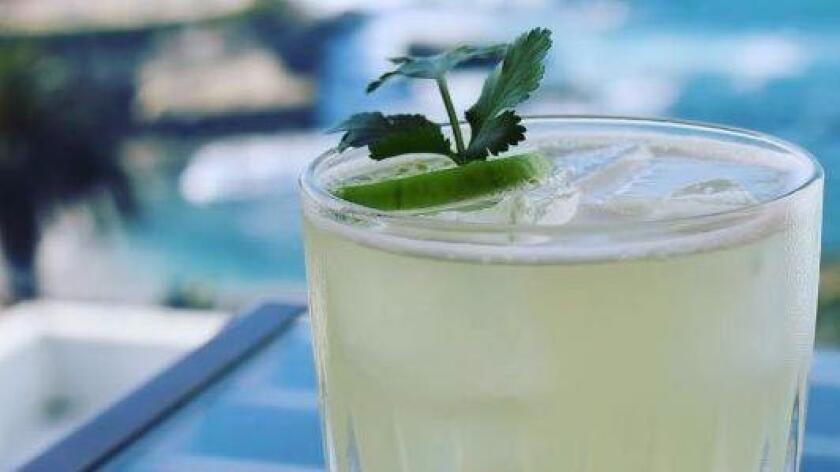 George's Level2 features the Mes de Verde cocktail, a twist on the classic margarita made with tequila and El Silencio Mezcal Espadin. (Courtesy photo)