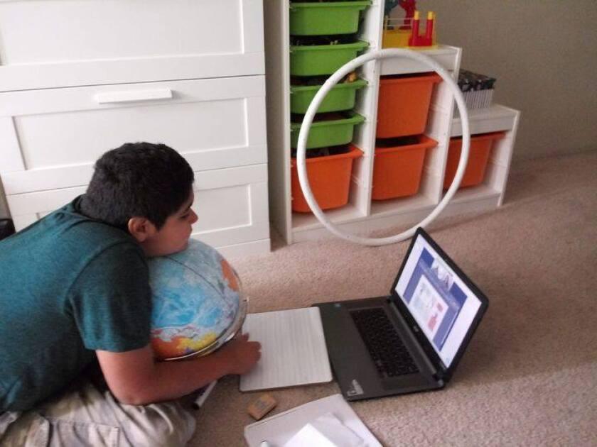 Charter School of San Diego student Diego Martinez, 12