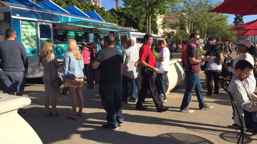 Food Truck Fridays at Balboa Park.