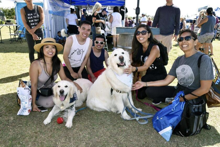 Participants at the Dog Days of Summer event in 2019.