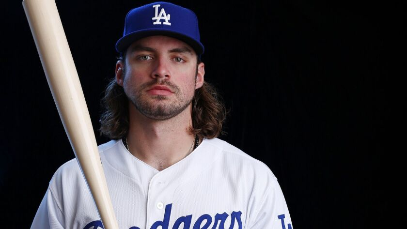 "Dodgers outfield prospect DJ Peters has power but is also prone to strikeouts, leading the Texas League with 192 last season. Says Peters: ""I know I can hit the ball out of any ballpark anywhere. ... I just want to compete and put the ball in play more often with two strikes."""