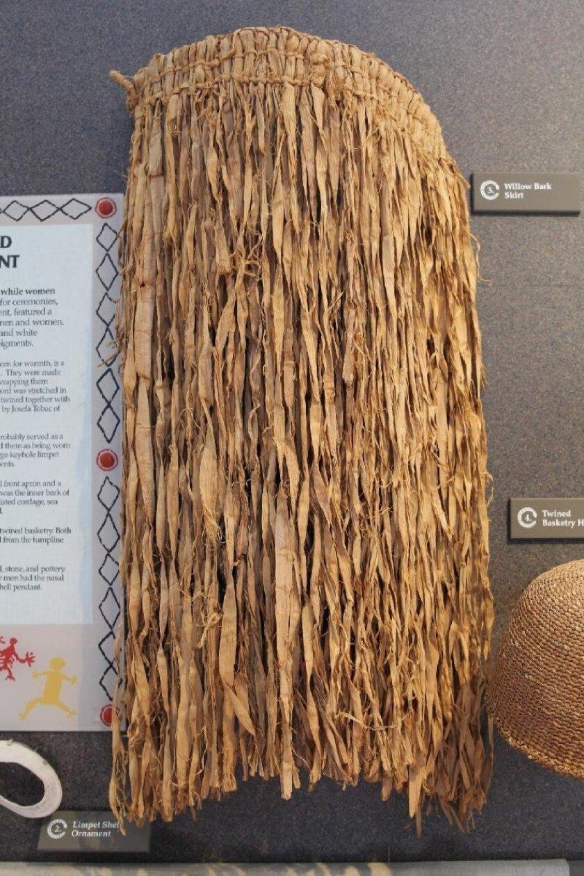 Native Californian willow bark skirt.