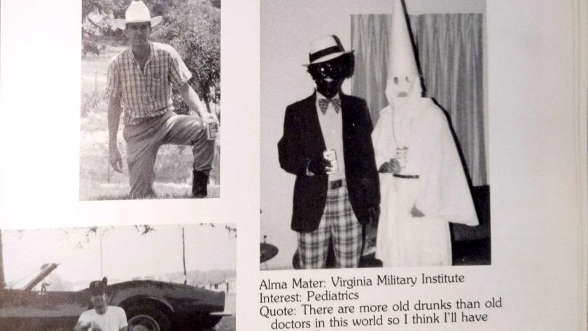 Ralph Northam's page in the 1984 yearbook of Eastern Virginia Medical School.